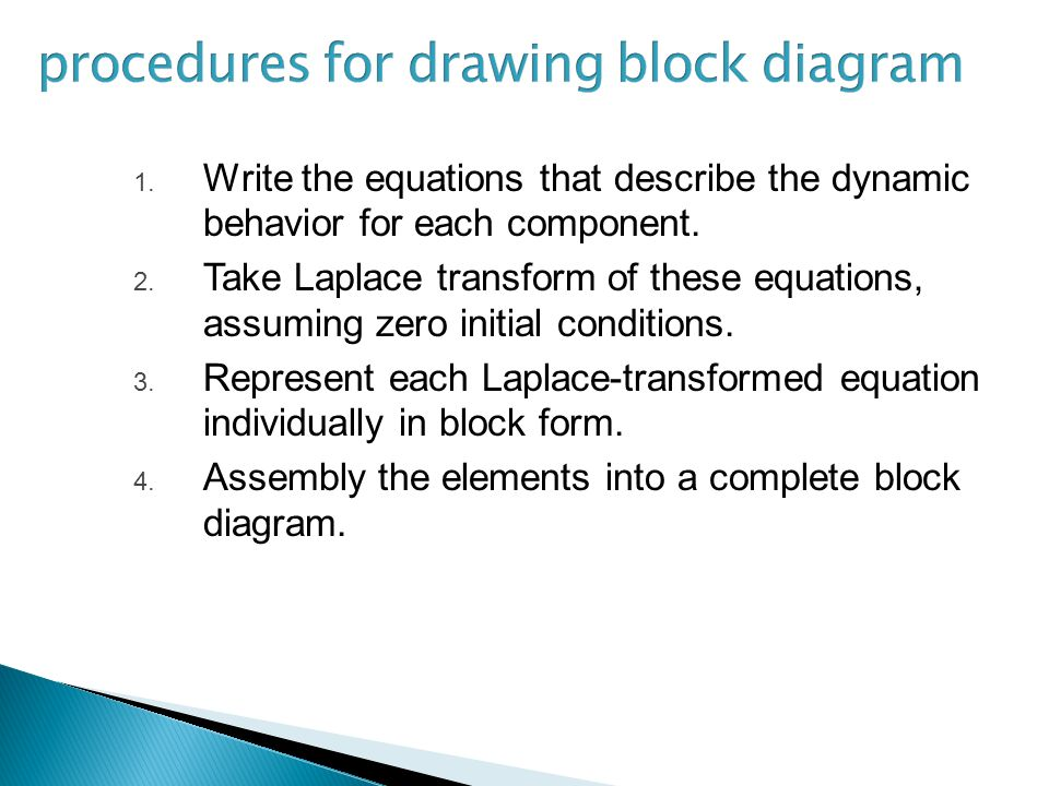 procedures for drawing block diagram