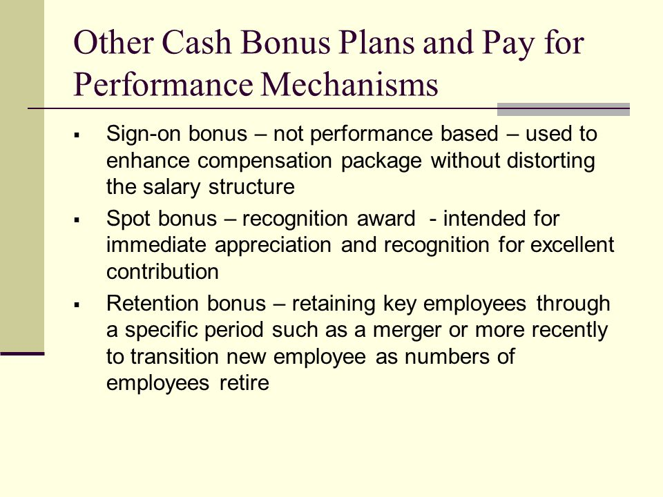 Cash bonus or stock options