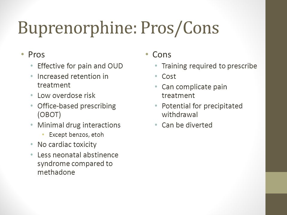 pros and cons of methadone clinics