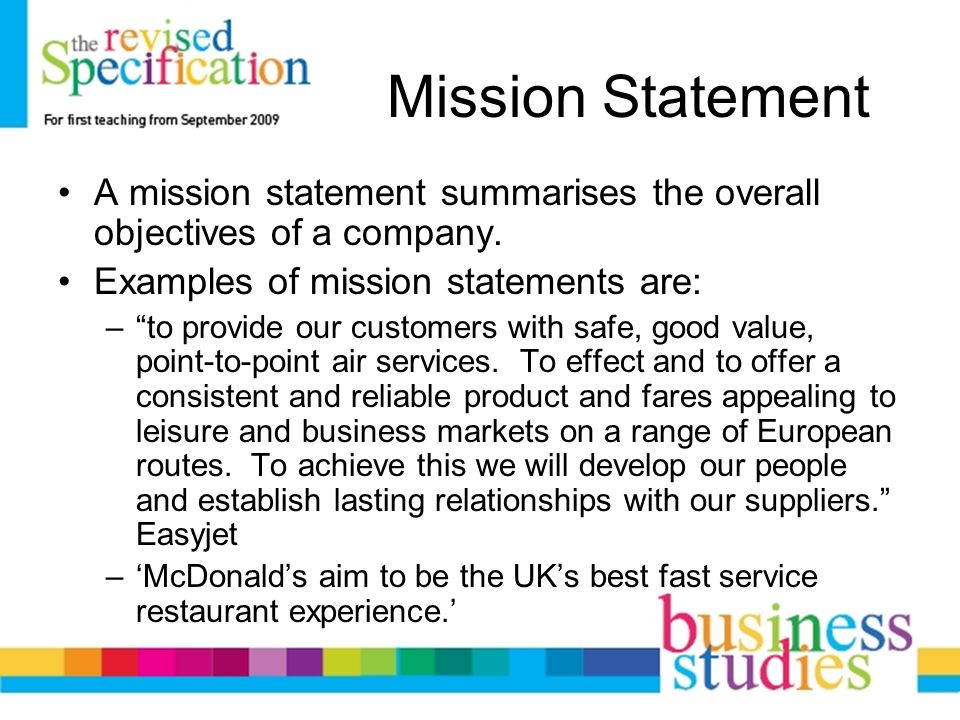 Mission Statements Business Aims Ppt Video Online Download
