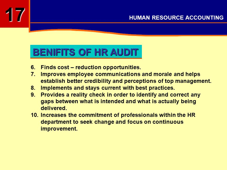 17 HUMAN RESOURCE ACOUNTING  - ppt video online download