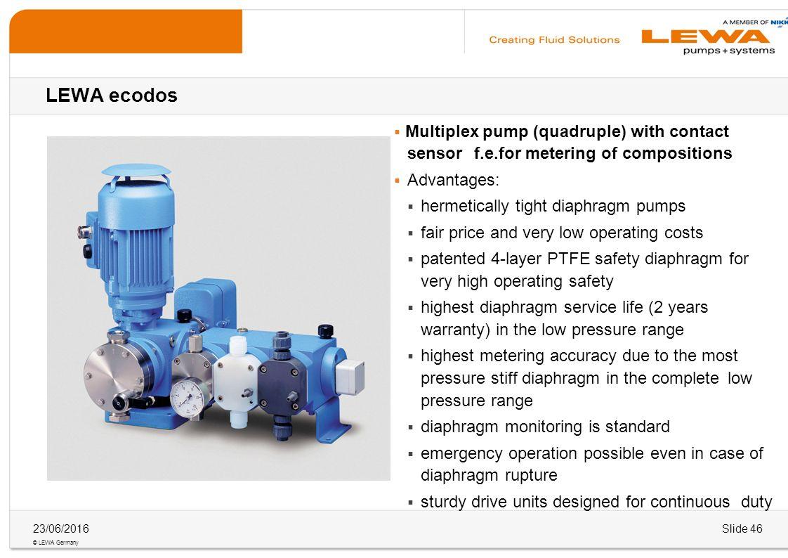 Lewa ecodos wieland wolff 2804 ppt download 46 lewa ecodos multiplex pump ccuart Gallery