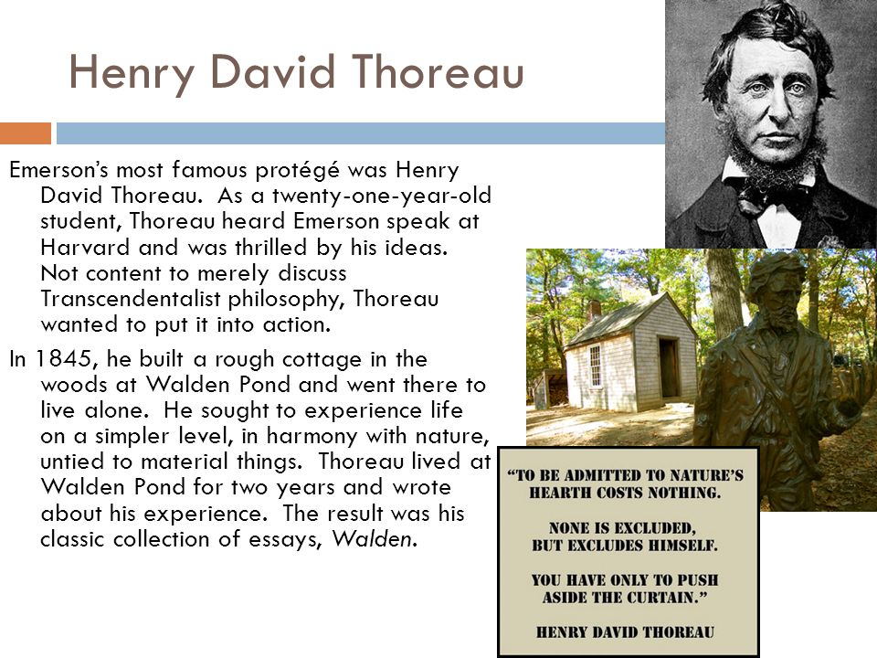 how are thoreau and emerson different