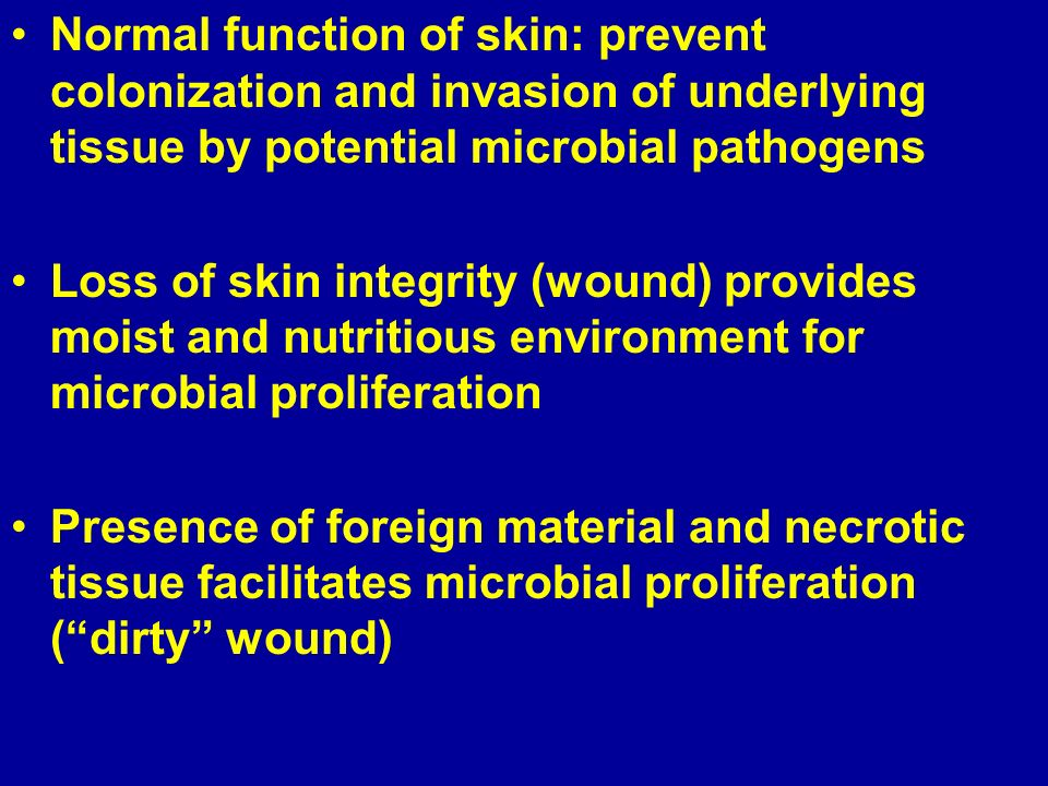 Skin Wound Infections Ppt Video Online Download