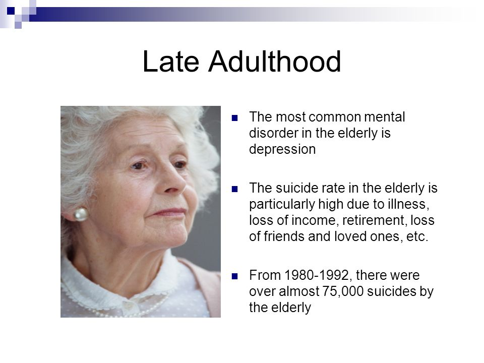 what is late adulthood stage