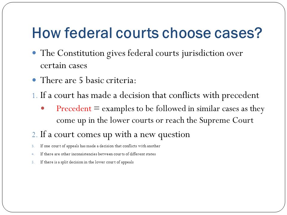 Federal Courts Supreme Court Lower Courts Ppt Download