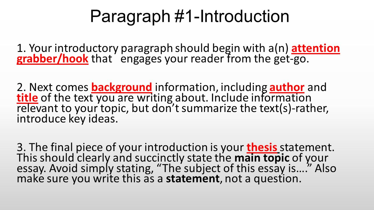 paragraph 1 introduction ppt download