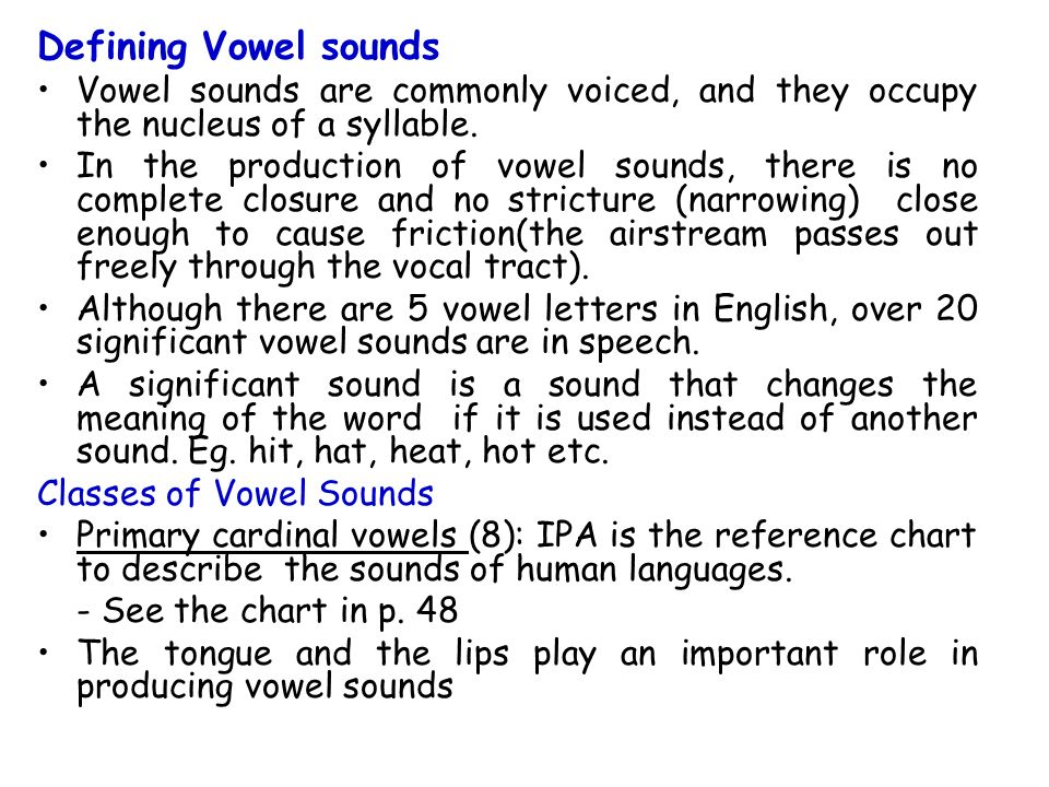 English Vowels And Diphthongs Ppt Video Online Download