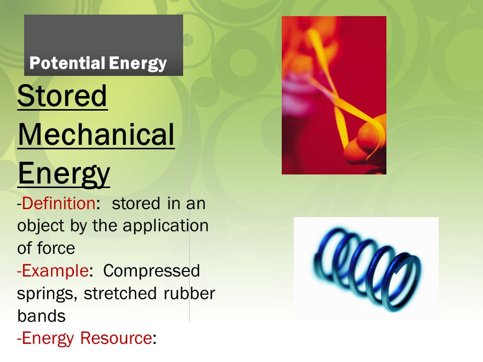 Forms Of Energy Ppt Video Online Download