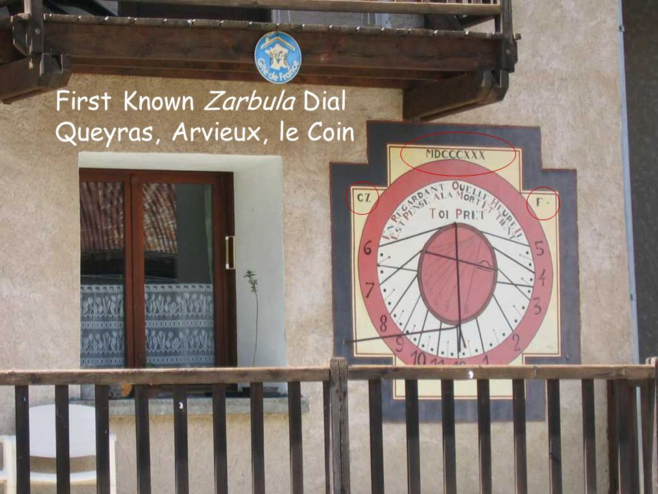 First Known Zarbula Dial