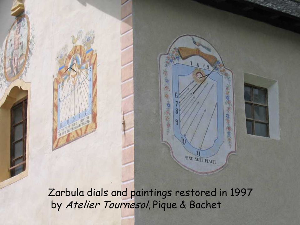 Zarbula dials and paintings restored in 1997