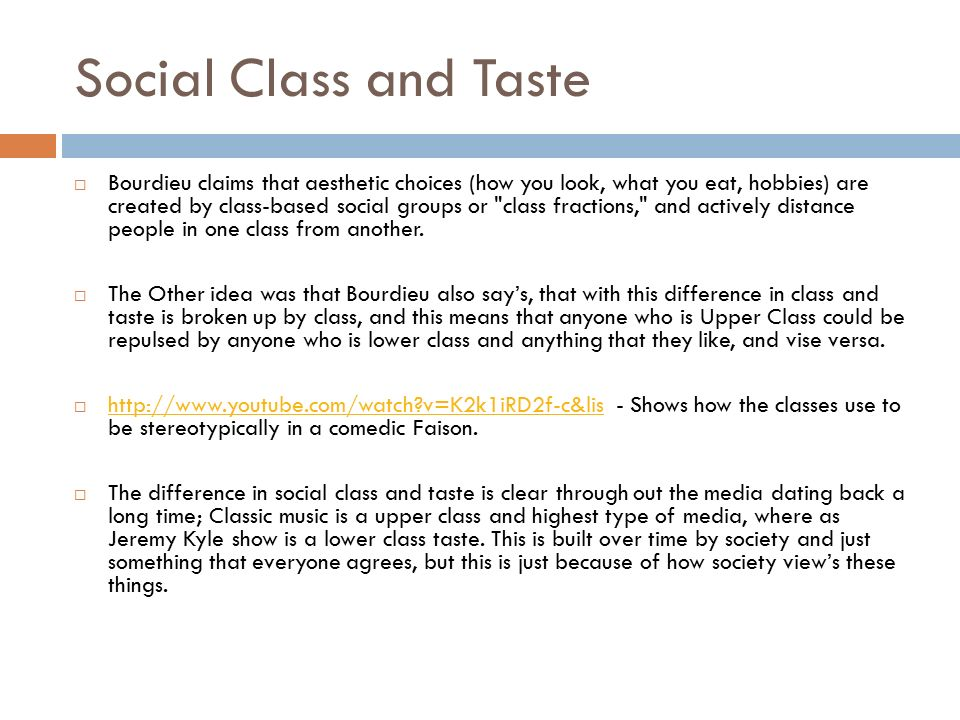 Dating lower social class