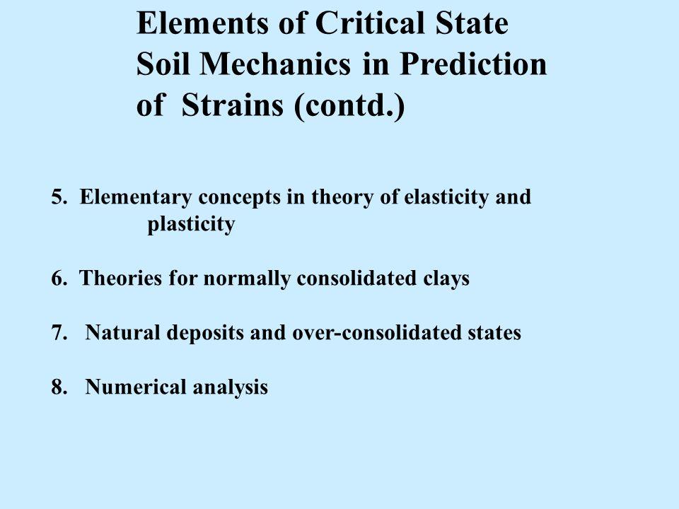 Plasticity theory soil