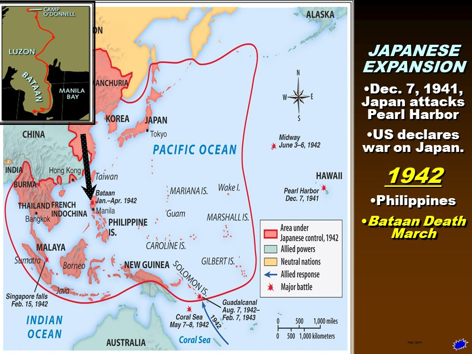 Wwii in asia 1 japanese aggression and us strategy ppt video 2 1942 gumiabroncs Images