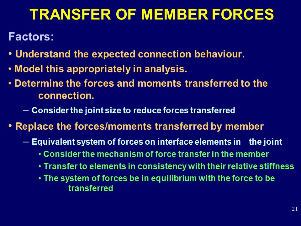 TRANSFER OF MEMBER FORCES