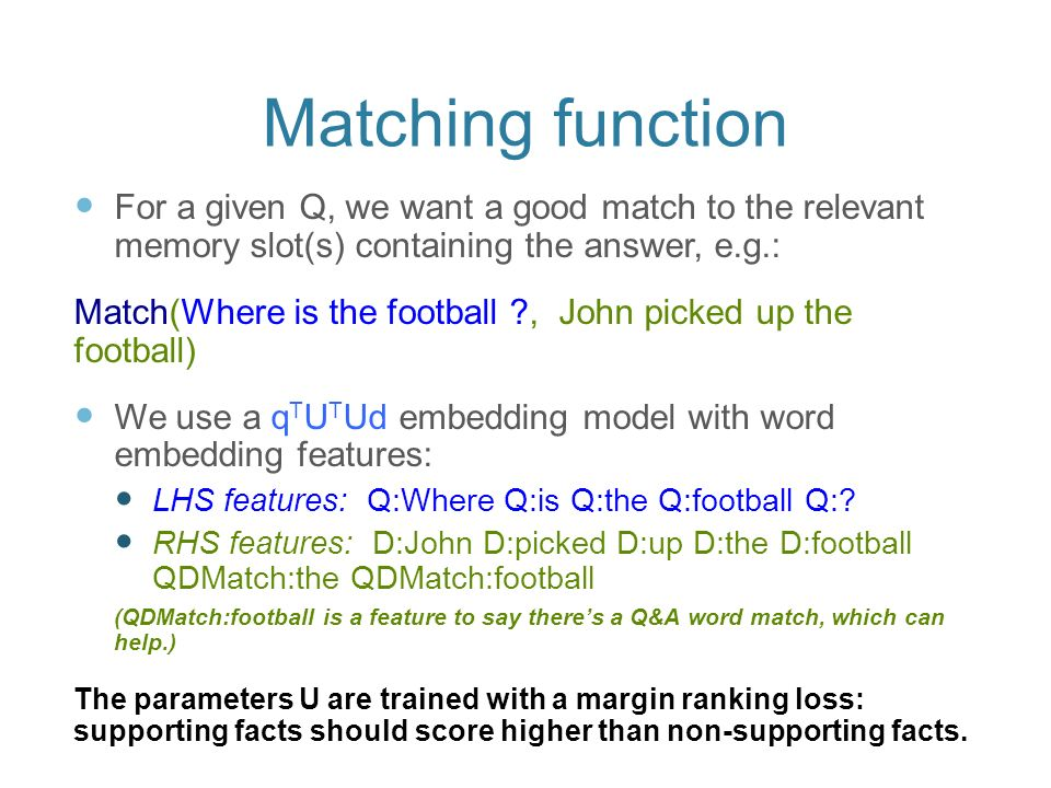 Memory Networks for Language Understanding - ppt download