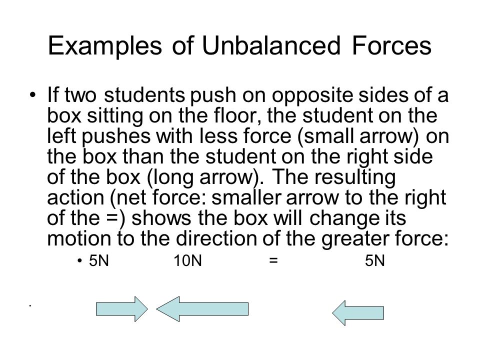 Balanced And Unbalanced Forces Ppt Video Online Download