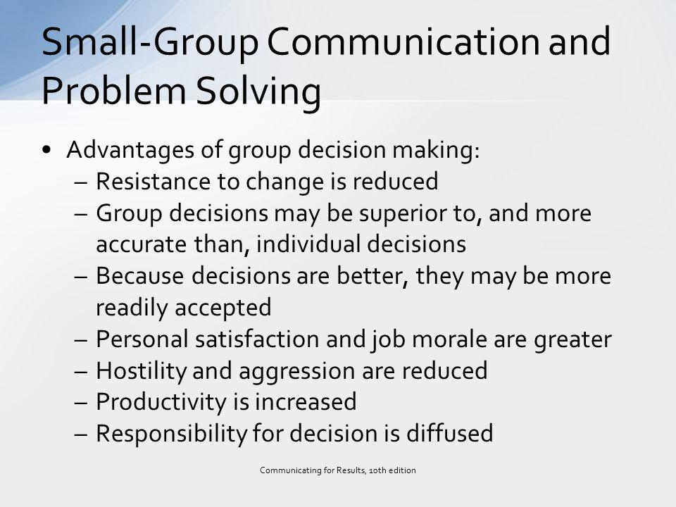 advantages of group communication