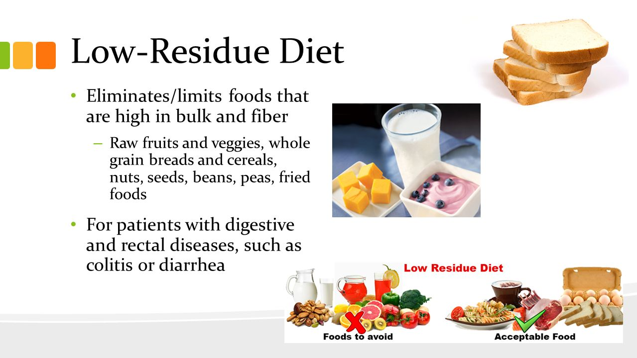 What Foods Are On A Low Residue Diet
