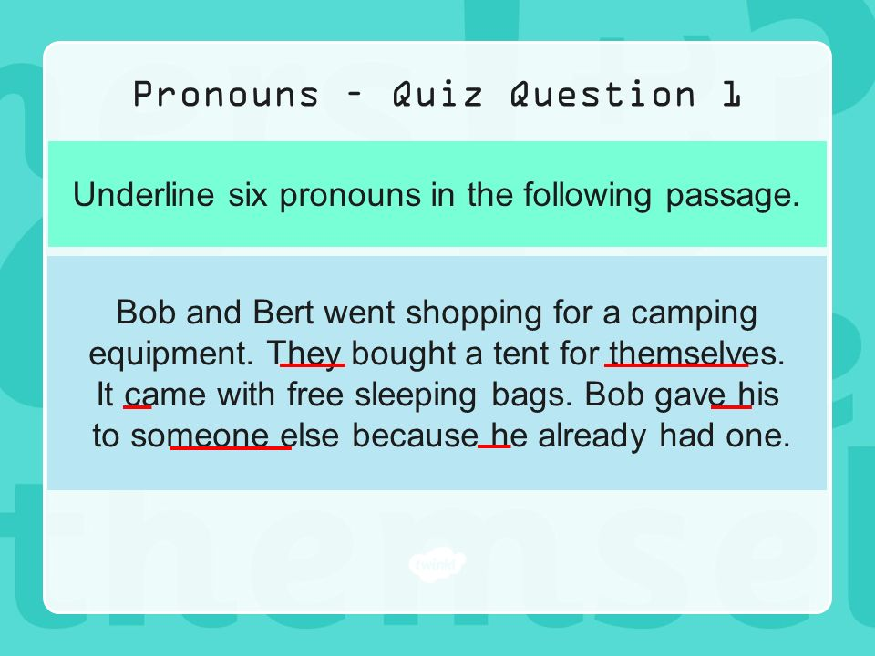 Year 6 Grammar Revision Pronouns  - ppt video online download