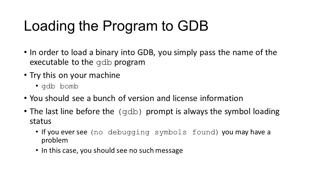 Gdb Introduction And Lab 2 Ppt Video Online Download