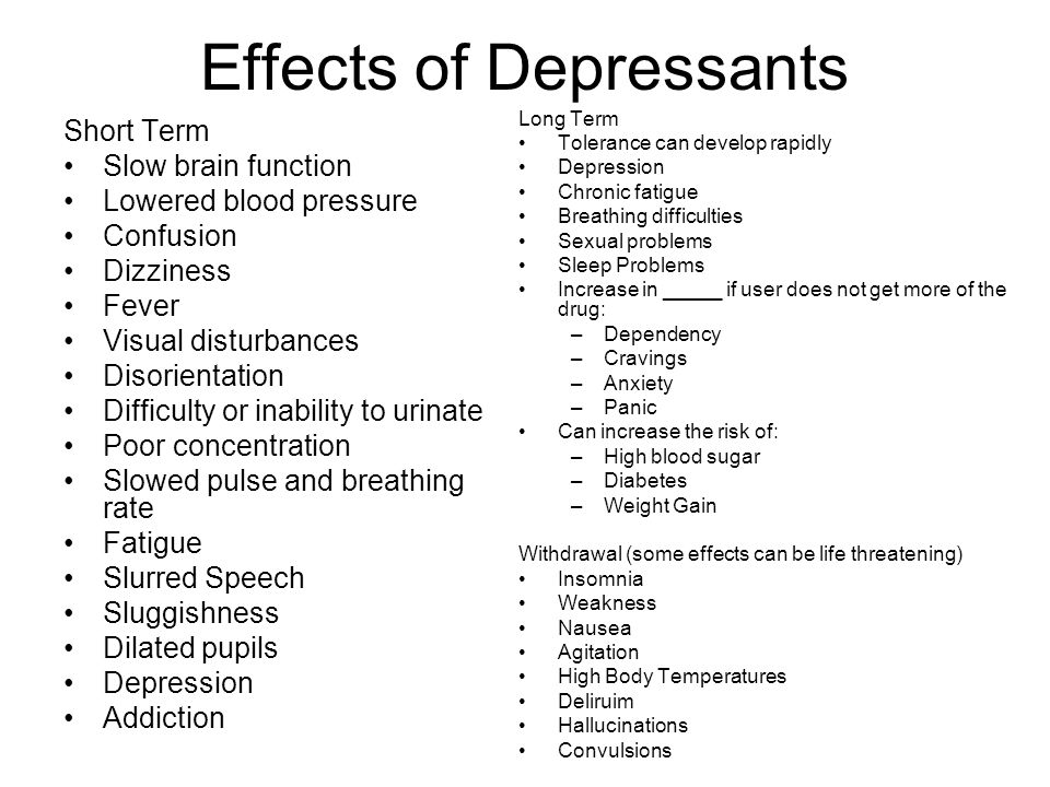 otc and prescription drugs ppt video online downloadeffects of depressants
