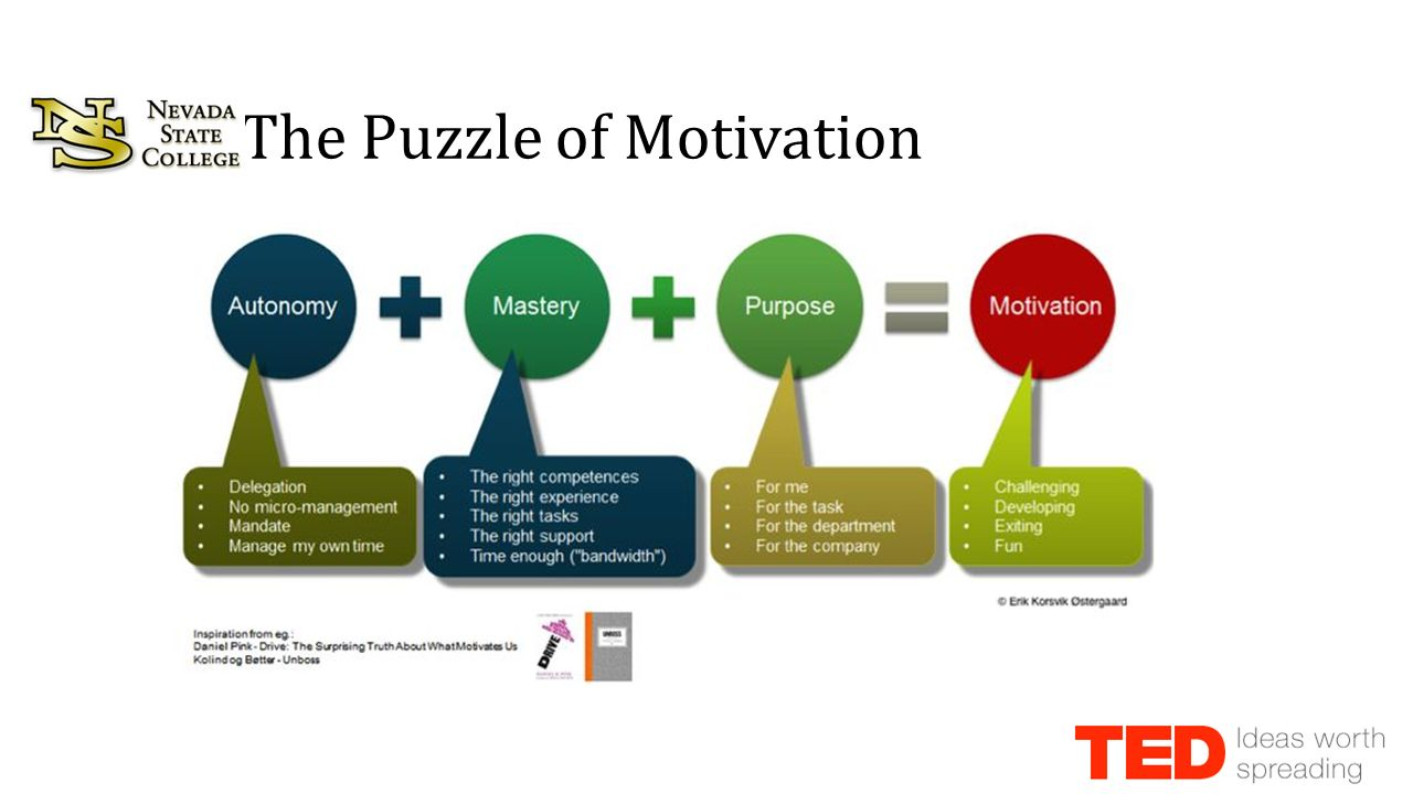 Dan pink the puzzle of motivation