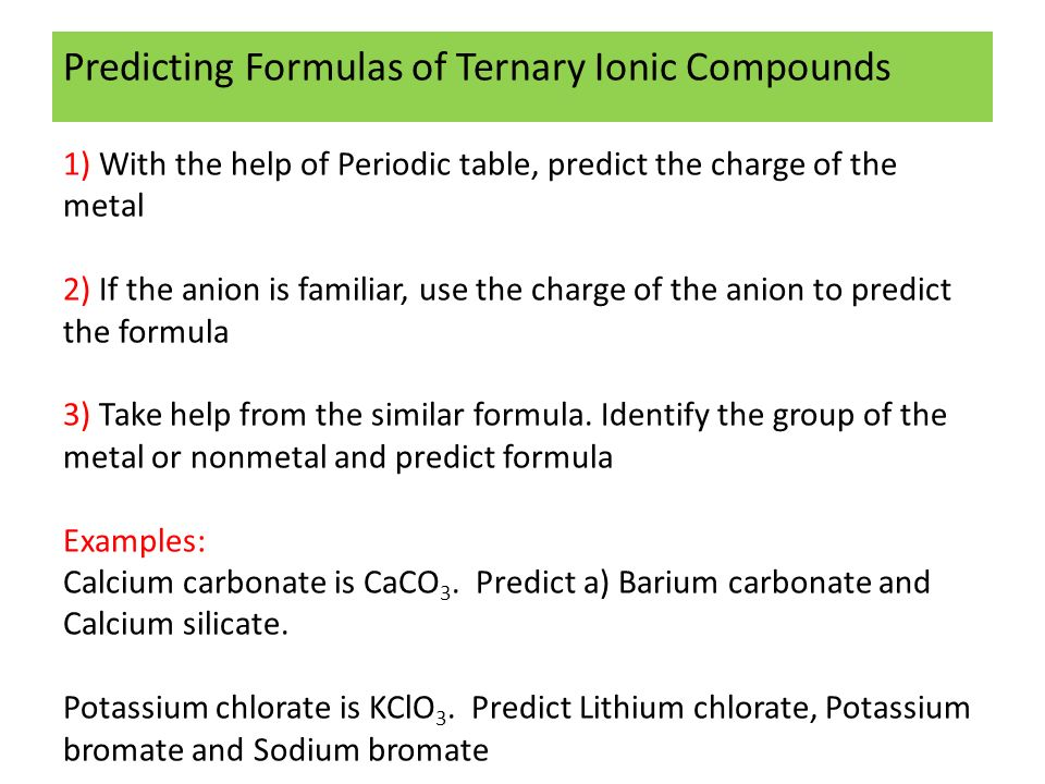 Classification of inorganic compounds inorganic chemistry non 21 predicting urtaz Gallery