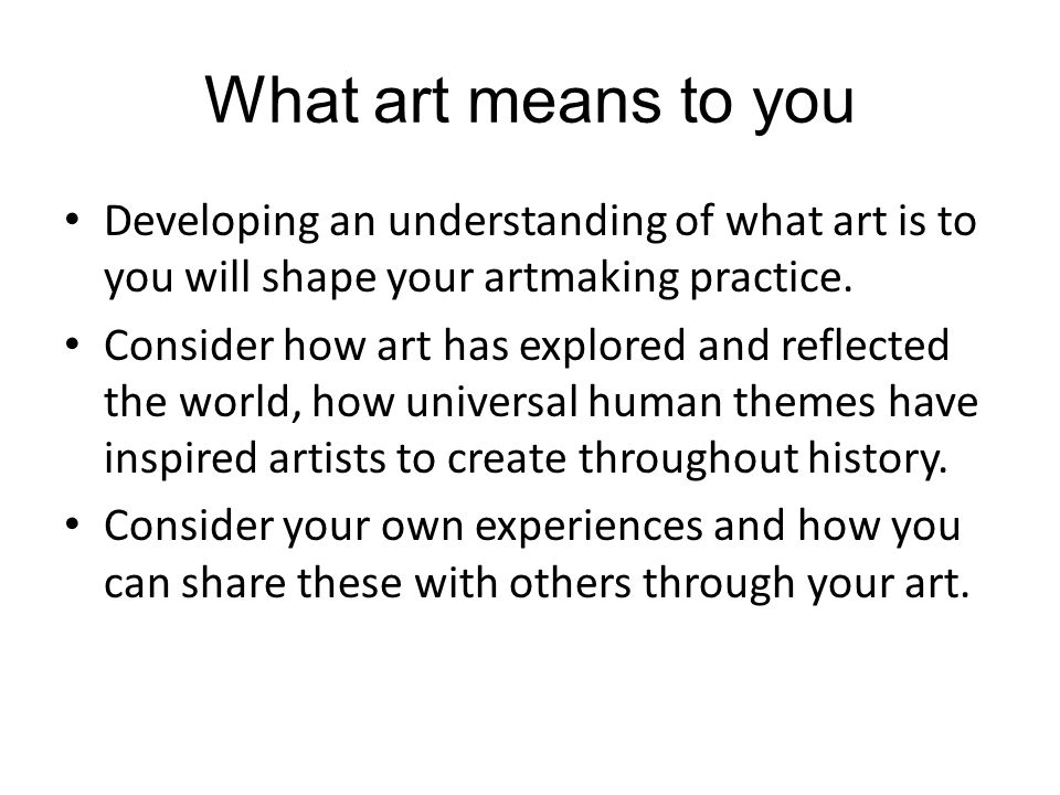 what art means to you