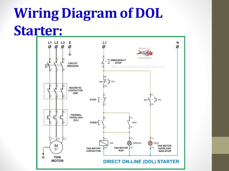 6 Wiring Diagram Of DOL Starter: