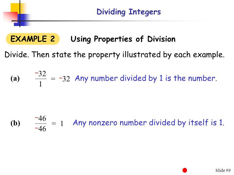 Dividing Integers  - ppt download