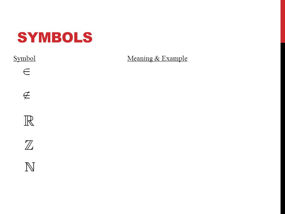 The Real Number System Symbols Sets And Subsets Ppt Video