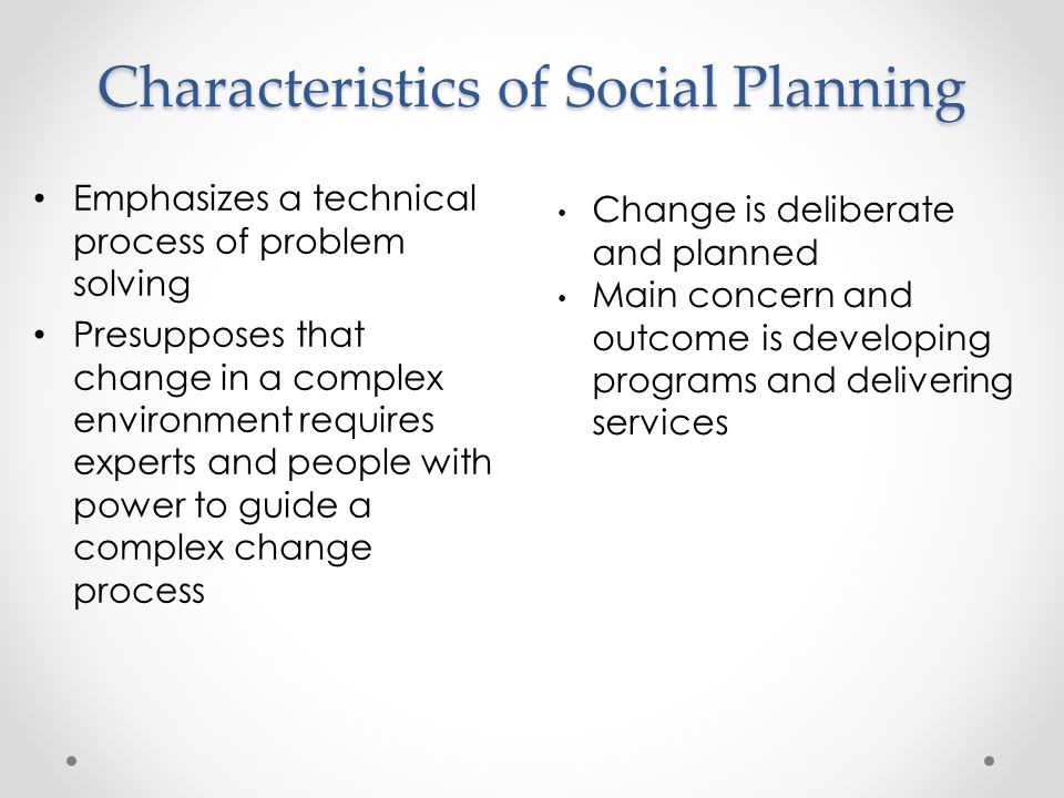 what is social planning
