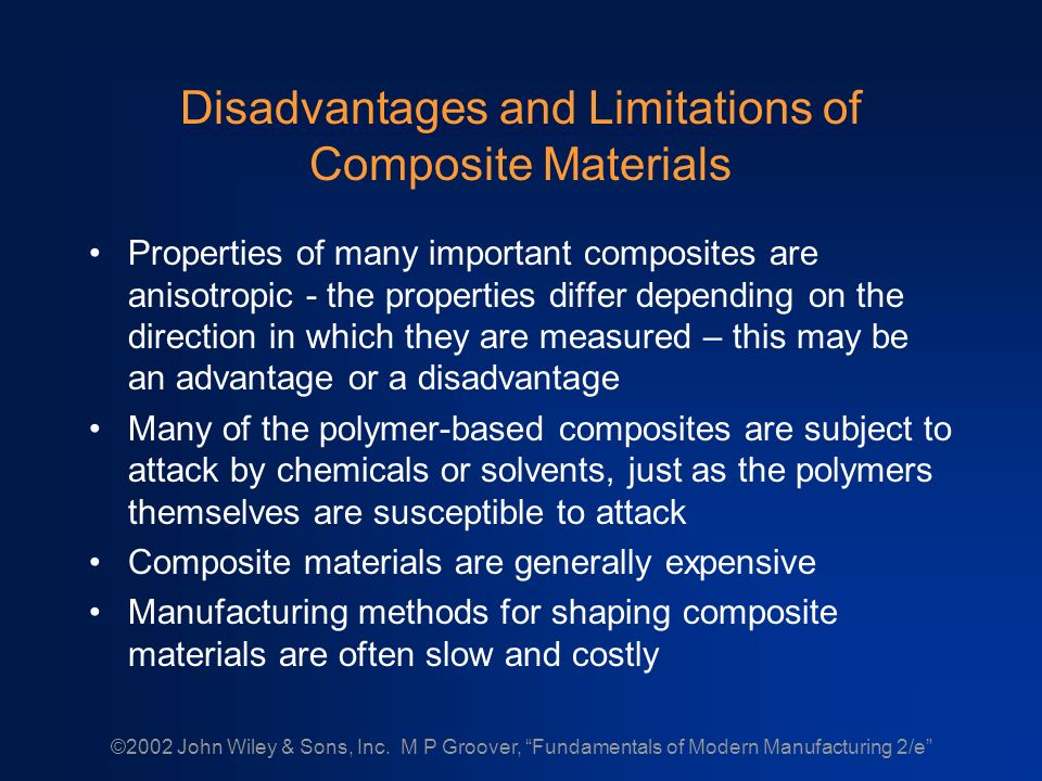 COMPOSITE MATERIALS Technology and Classification of Composite Materials  Metal Matrix Composites Ceramic Matrix Composites Polymer Matrix Composites  Guide