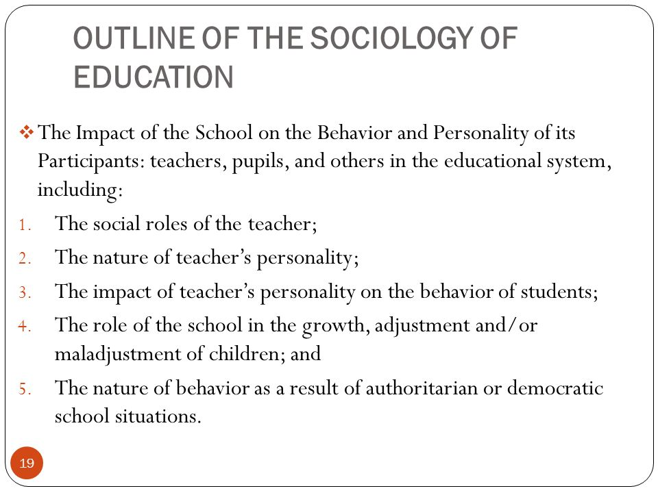 nature of educational sociology