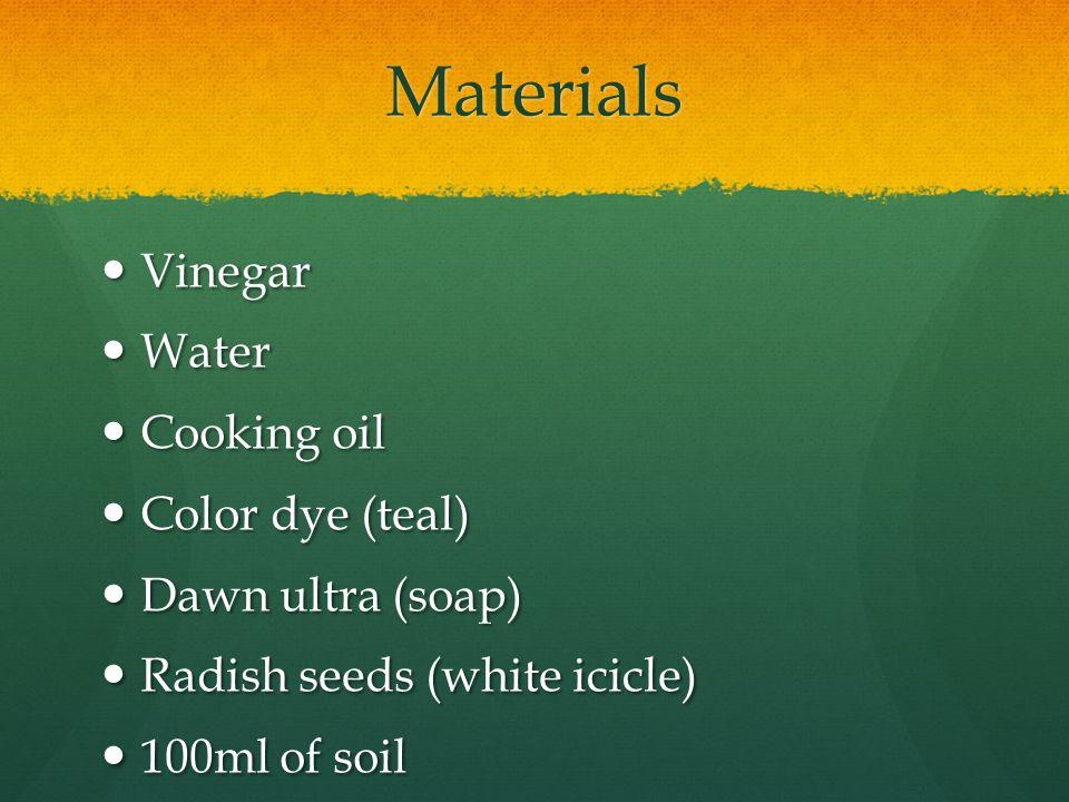 radish seed germination in vinegar