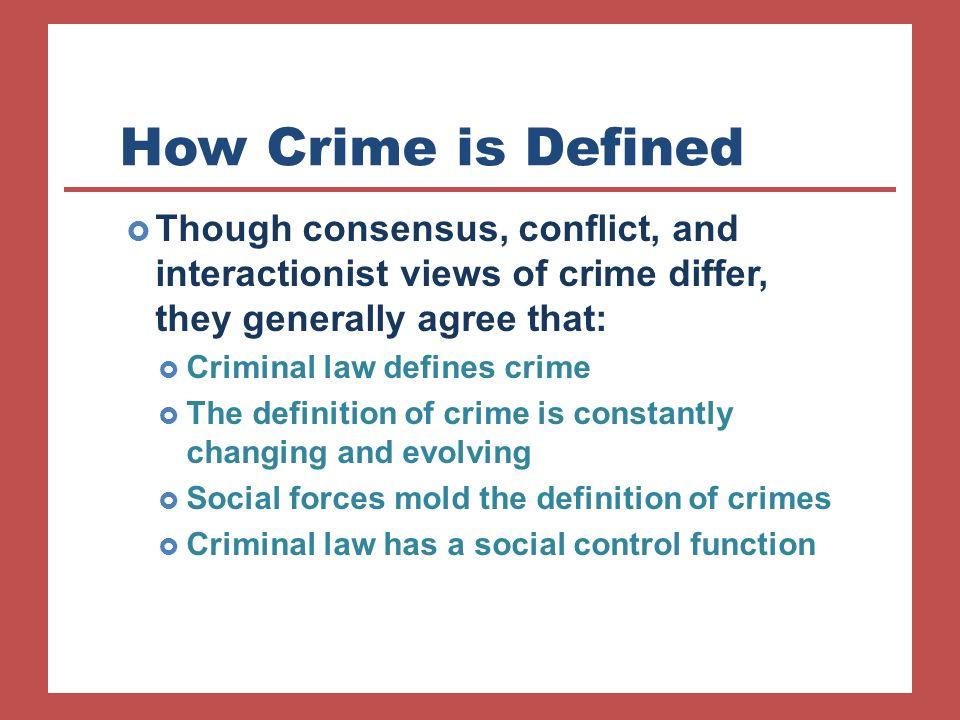 consensus view of crime