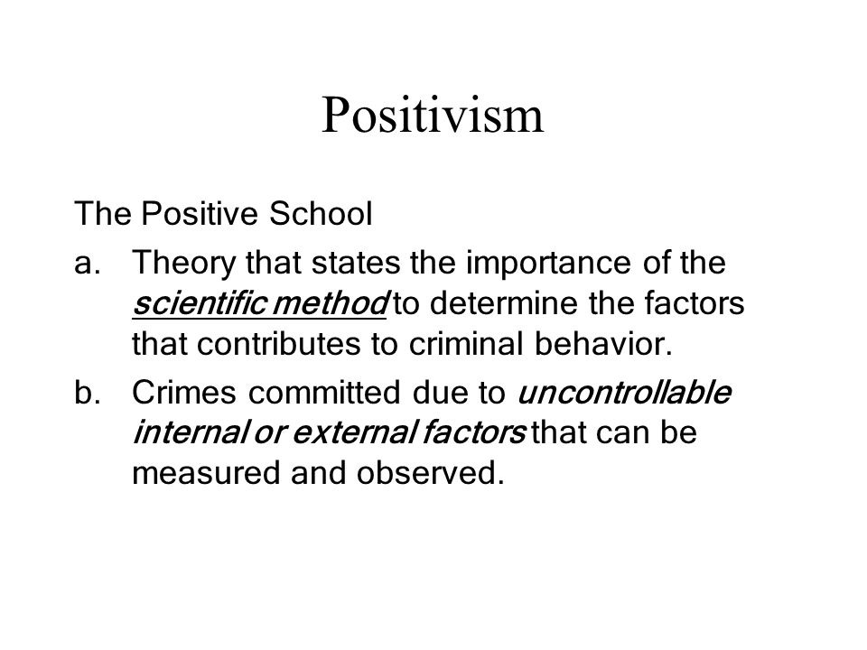 positive school theory