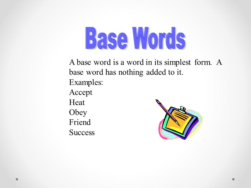 Prefixes Suffixes And Base Words Ppt Download
