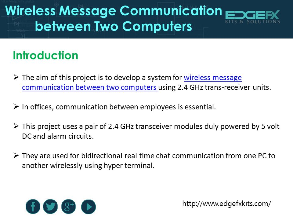 Wireless Message Communication Between Two Computers - ppt
