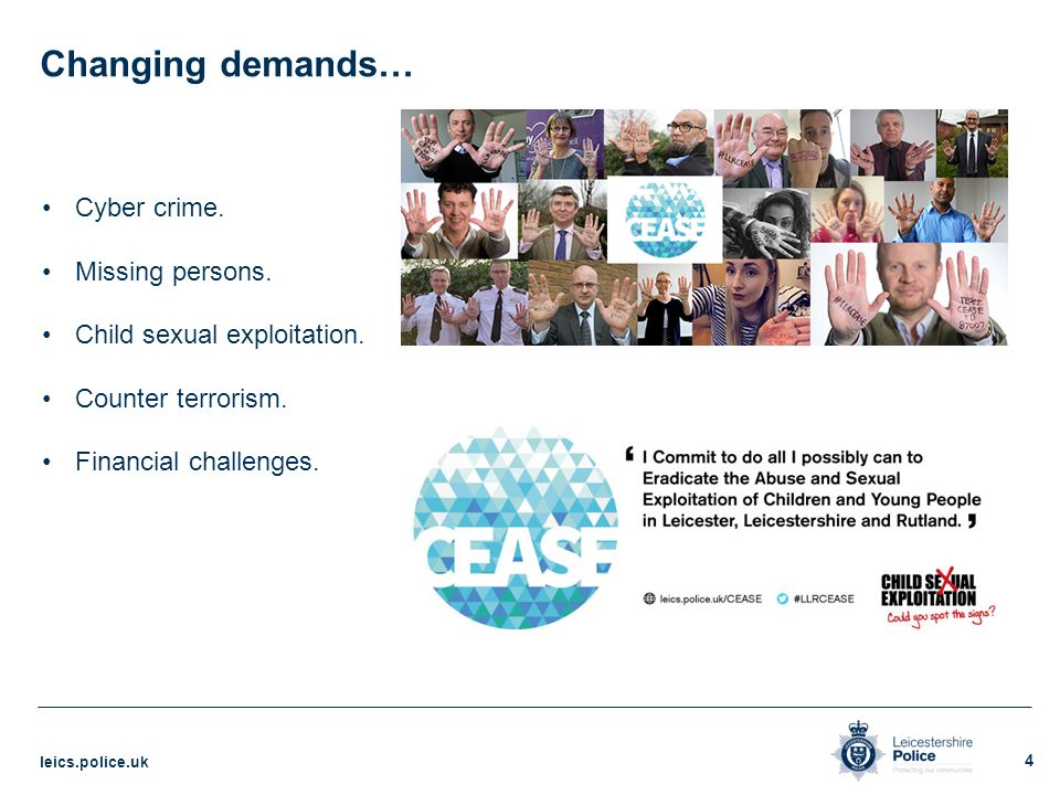 Blueprint 2020 the leicestershire police transformation model 4 changing demands malvernweather Image collections