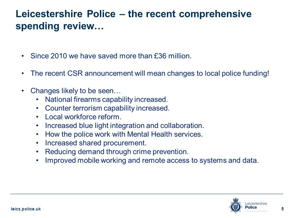Blueprint 2020 the leicestershire police transformation model 5 leicestershire police the recent comprehensive spending review malvernweather Choice Image
