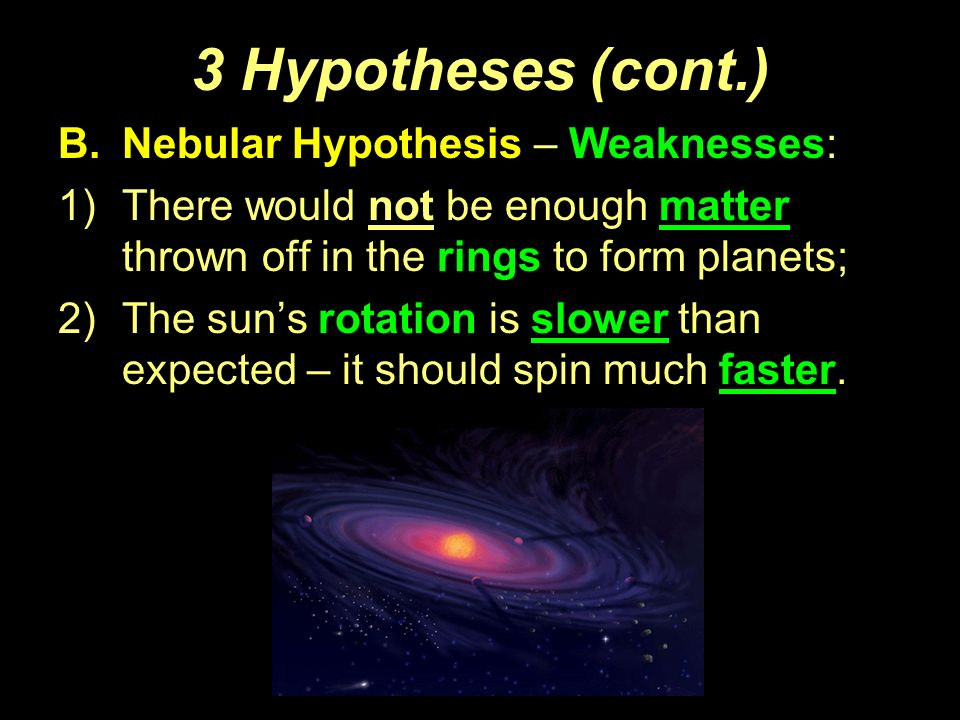 what is the nebular hypothesis theory