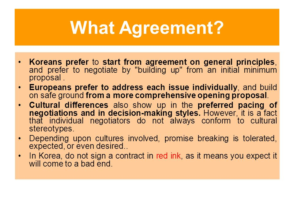 Europeankorean Cultural Differences In Negotiation Ppt Download