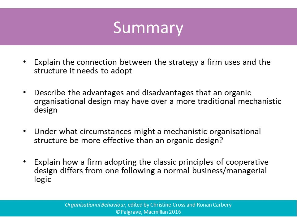 organic organizational structure advantages and disadvantages