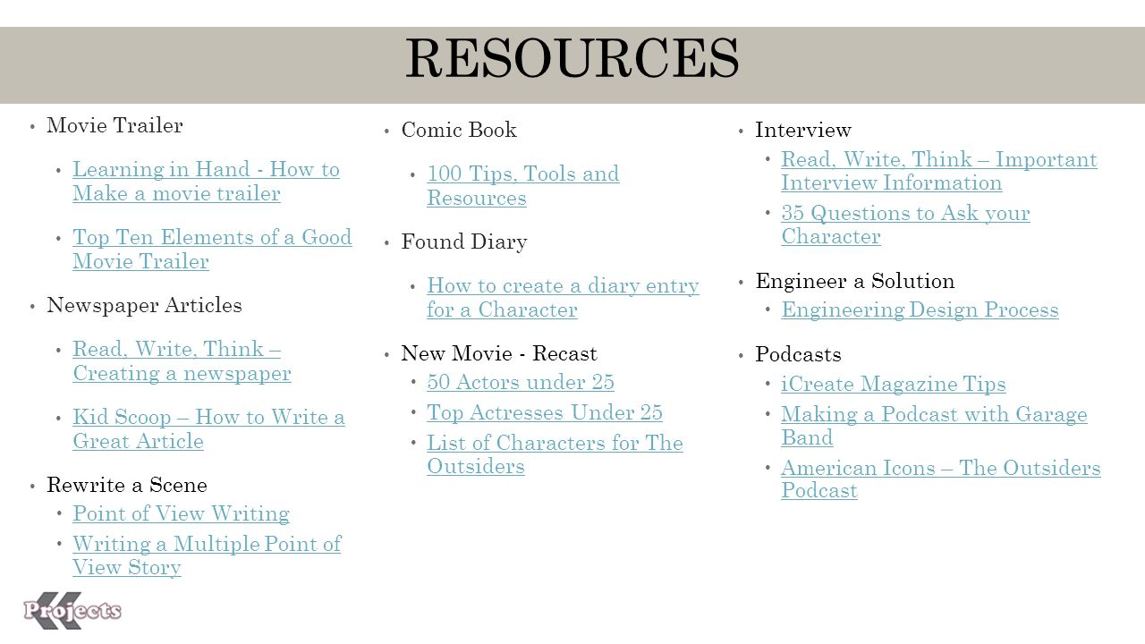 Book Project Tasks The Outsiders  - ppt download