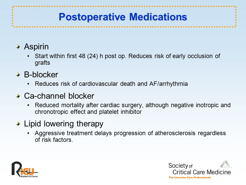 Perioperative Care Of The Cardiac Surgery Patient Ppt