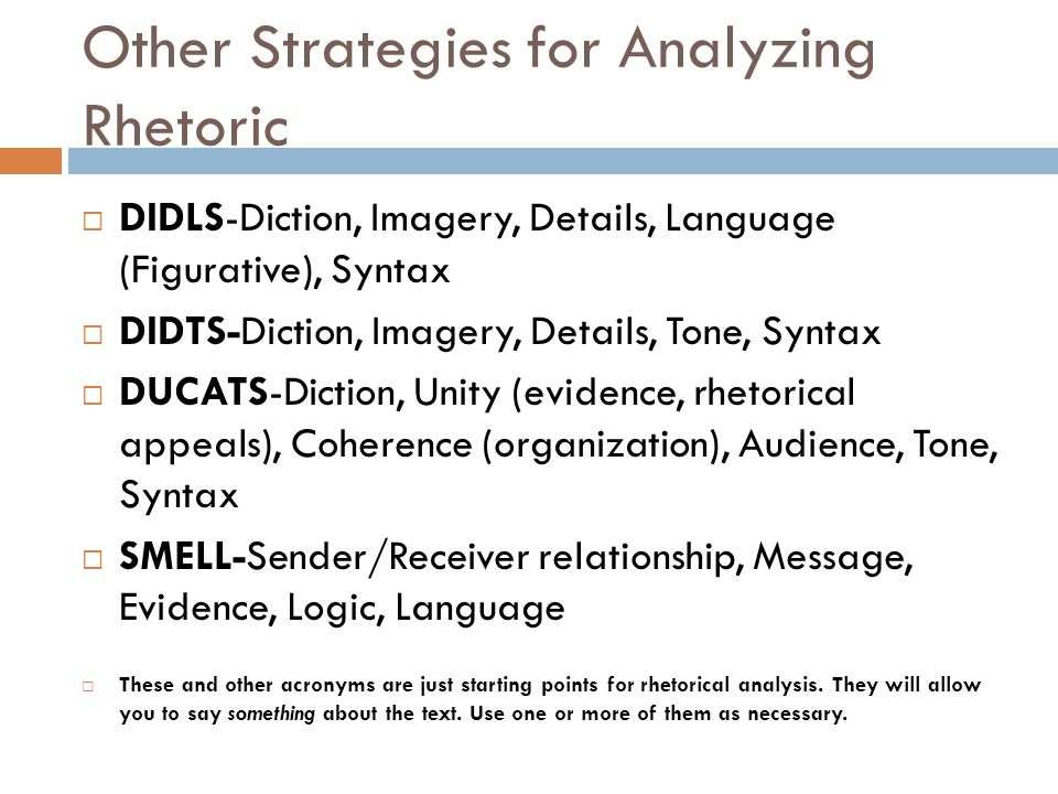 performing rhetorical analysis Learn how to analyze an artifact using a rhetorical approach  2 learn to use the concepts and terminology of rhetorical analysis/criticism  o you are therefore primarily performing  textual analysis remember that everything is an argument (the text and your essay), so you need to make a  rhetorical analysis of a speech author.