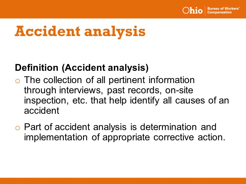 Ppt accident analysis powerpoint presentation id:37572.