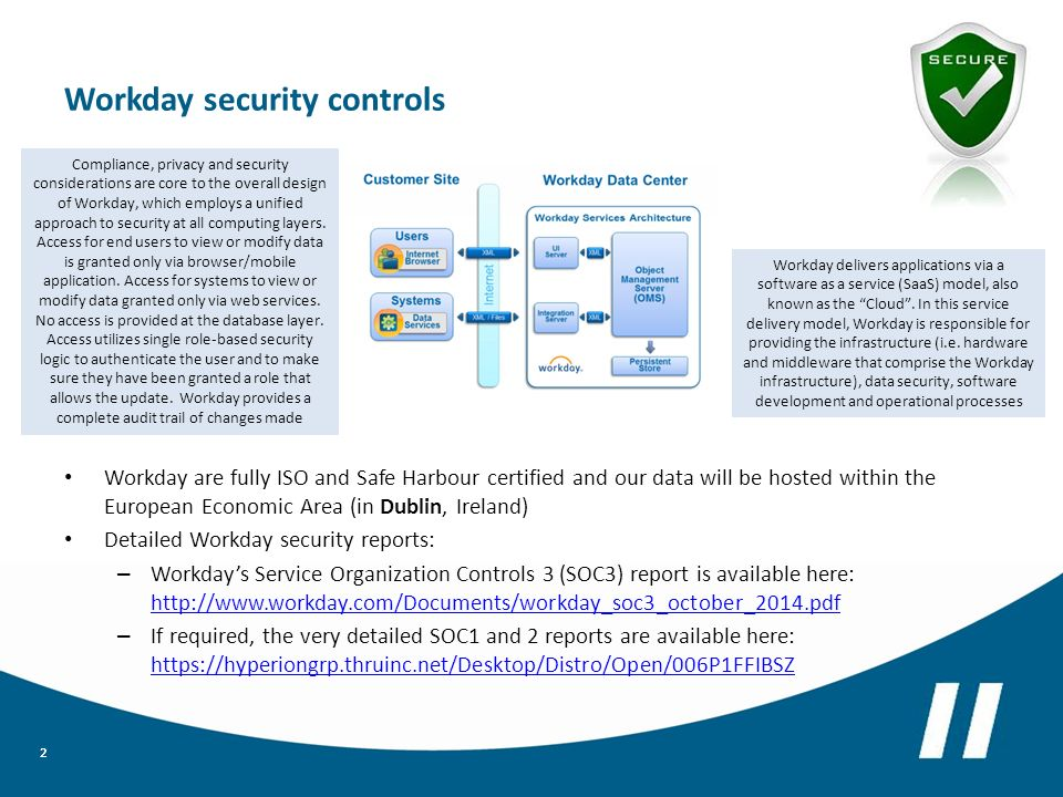 Workday: Data Privacy and Security Overview - ppt download